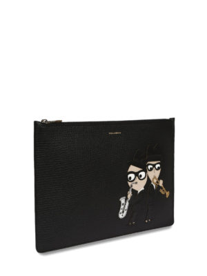 Dolce & Gabbana: clutches online - Designer patch leather clutch
