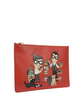 Dolce & Gabbana: clutches online - DG Family patch leather clutch