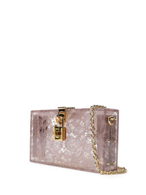 Dolce & Gabbana: clutches online - Dolce Box plexi and lace clutch