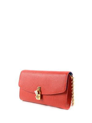 Dolce & Gabbana: clutches online - Dolce Dauphine leather clutch