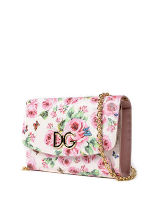 Dolce & Gabbana: clutches online - Floral print Dauphine wallet bag