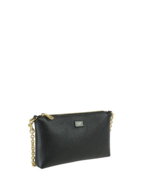 Dolce & Gabbana: clutches online - Hammered leather clutch
