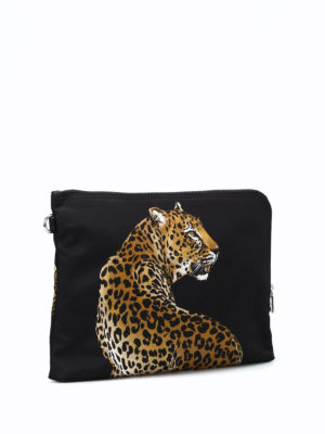 Dolce & Gabbana: clutches online - Leopards print nylon clutch