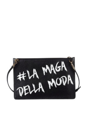Dolce & Gabbana: clutches online - Playing card print leather pouch