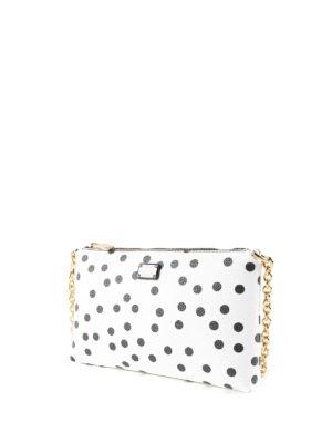 Dolce & Gabbana: clutches online - Polka dot print crepe clutch