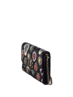 Dolce & Gabbana: clutches online - Printed dauphine leather clutch