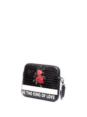 Dolce & Gabbana: clutches online - Printed leather zipped clutch