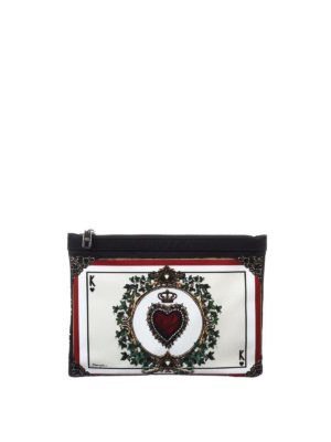 Dolce & Gabbana: clutches online - Printed nylon document holder