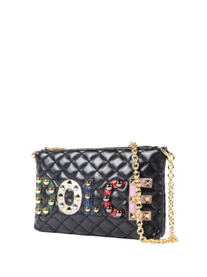Dolce & Gabbana: clutches online - Quilted napa leather clutch