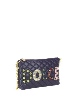 Dolce & Gabbana: clutches online - Quilted nappa leather clutch