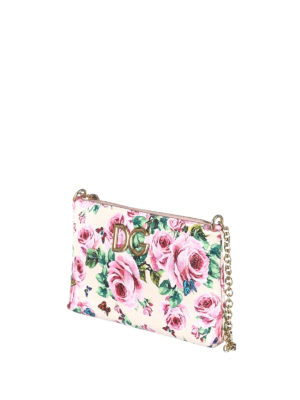 Dolce & Gabbana: clutches online - Rose print leather clutch