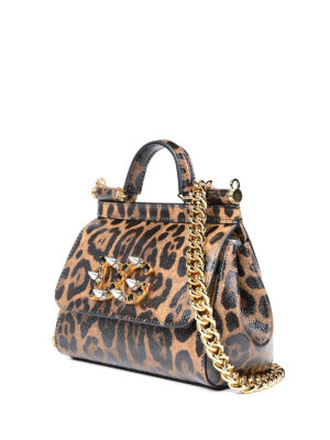 Dolce & Gabbana: clutches online - Sicily Mini animal print clutch