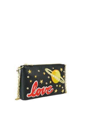 Dolce & Gabbana: clutches online - Studded leather clutch with patches