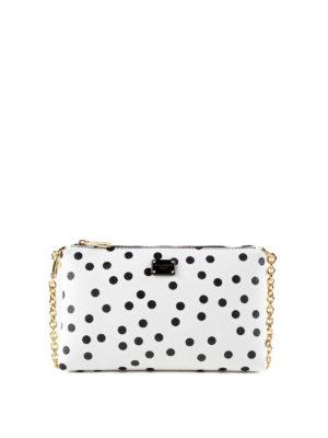 Dolce & Gabbana: clutches - Polka dot print crepe clutch