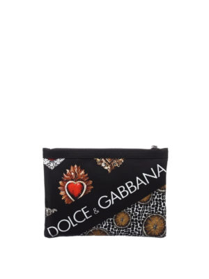 Dolce & Gabbana: clutches - Printed nylon document holder