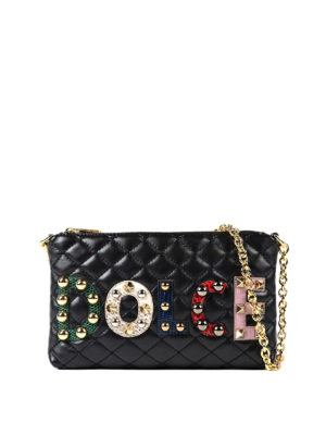 Dolce & Gabbana: clutches - Quilted napa leather clutch
