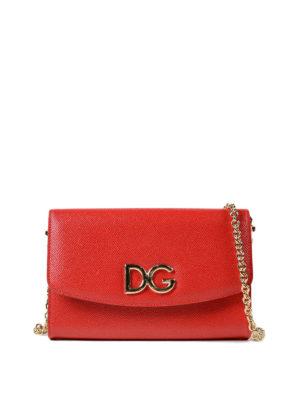DOLCE & GABBANA: pochette - Clutch portafoglio in pelle rossa
