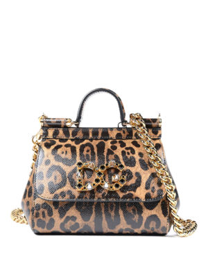 Dolce & Gabbana: clutches - Sicily Mini animal print clutch