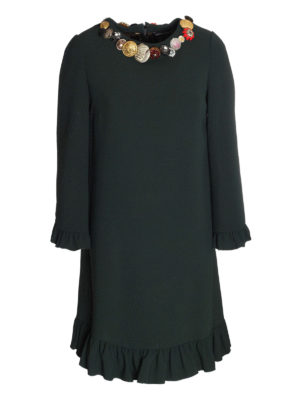 Dolce & Gabbana: cocktail dresses - Cady dress with jewel buttons