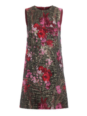 Dolce & Gabbana: cocktail dresses - Floral lurex jacquard sheath dress