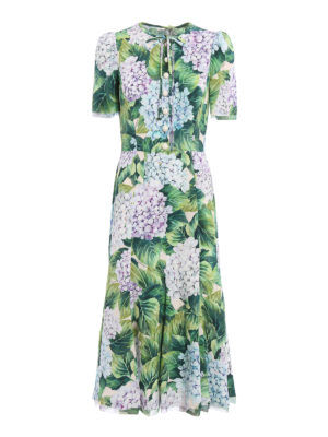 Dolce & Gabbana: cocktail dresses - Hydrangea print cady dress