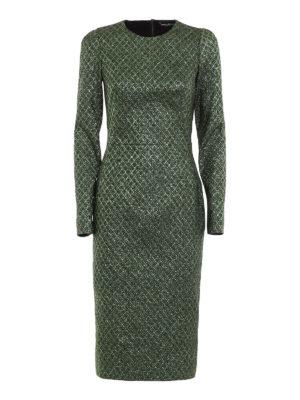 Dolce & Gabbana: cocktail dresses - Iridescent jacquard sheath dress