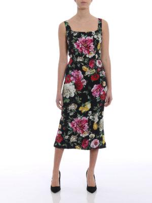 Dolce & Gabbana: cocktail dresses online - Floral cady sleeveless dress