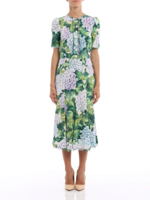 Dolce & Gabbana: cocktail dresses online - Hydrangea print cady dress