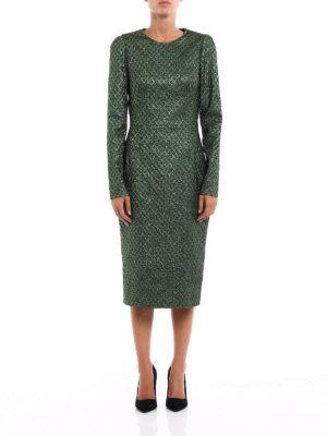 Dolce & Gabbana: cocktail dresses online - Iridescent jacquard sheath dress