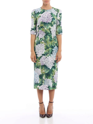 Dolce & Gabbana: cocktail dresses online - Ortensia print silk midi dress