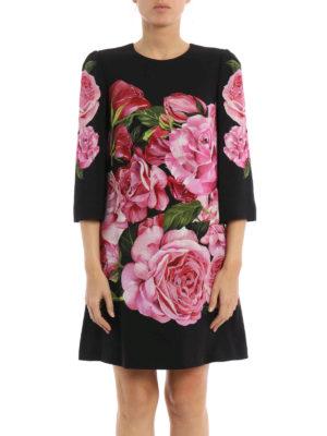 Dolce & Gabbana: cocktail dresses online - Rose print crepe dress