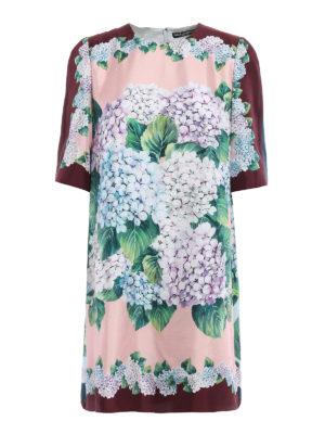 Dolce & Gabbana: cocktail dresses - Ortensia print silk dress