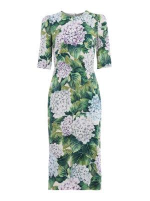 Dolce & Gabbana: cocktail dresses - Ortensia print silk midi dress