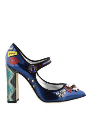 Dolce & Gabbana: court shoes - Bellucci Mary Jane with appliques