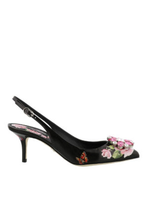 Dolce & Gabbana: court shoes - Bellucci roses print slingback
