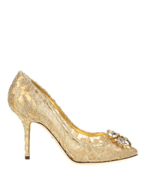 DOLCE & GABBANA: scarpe décolleté - Décolleté Bellucci gioiello in pizzo Taormina
