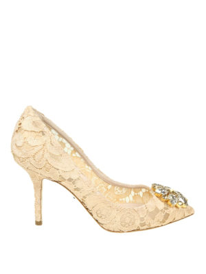 DOLCE & GABBANA: scarpe décolleté - Décolleté gioiello Bellucci in pizzo Taormina