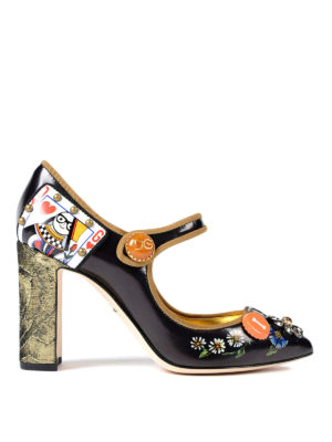 Dolce & Gabbana: court shoes - Funny embellishment Mary Janes