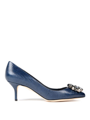 Dolce & Gabbana: court shoes - Jewel printed leather pumps