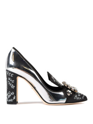 Dolce & Gabbana: court shoes - Jewel pumps with writings