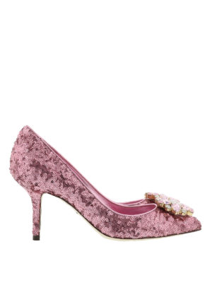 Dolce & Gabbana: court shoes - Jewel sequined pumps