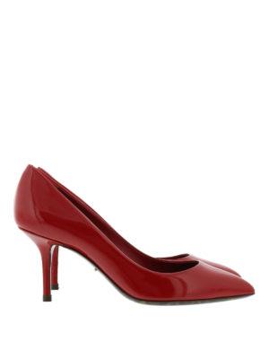 Dolce & Gabbana: court shoes - Leo print sole detail patent pumps