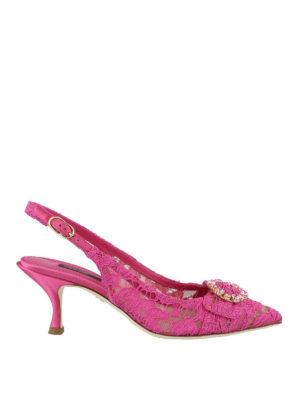 DOLCE   GABBANA  scarpe décolleté - Décolleté gioiello Lori slingback in  pizzo 15f6921021b