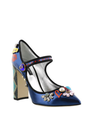 Dolce & Gabbana: court shoes online - Bellucci Mary Jane with appliques