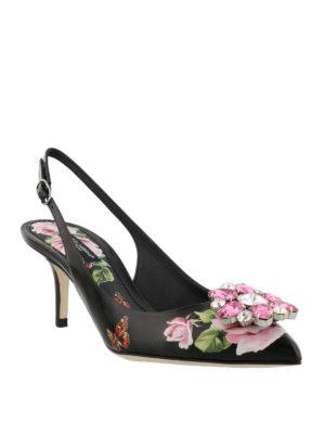 Dolce & Gabbana: court shoes online - Bellucci roses print slingback