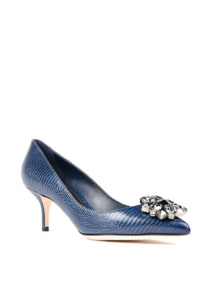 Dolce & Gabbana: court shoes online - Jewel printed leather pumps