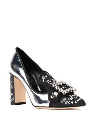 Dolce & Gabbana: court shoes online - Jewel pumps with writings