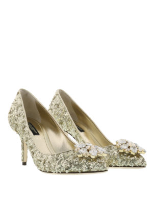 Dolce & Gabbana: court shoes online - Jewel sequined pumps