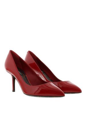 Dolce & Gabbana: court shoes online - Leo print sole detail patent pumps