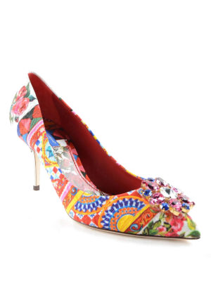 Dolce & Gabbana: court shoes online - Mambo print brocade pumps
